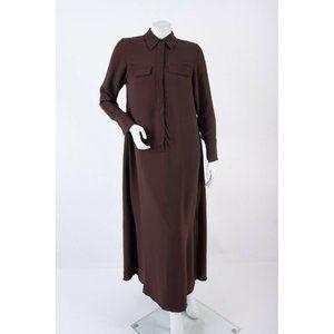 Massimo Dutti Womens Shirt Dress US 2 EU 34 Brown